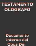 Opus Dei: Testamento ológrafo