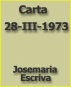 Jose María Escrivá. Carta 28-III-1973
