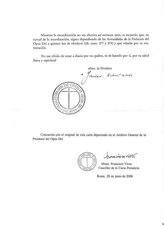 Decreto del Prelado del Opus Dei (y 2)