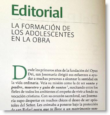Libros silenciados sobre el opus dei for Ejemplo de una editorial de un periodico mural